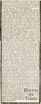 The Obituary of William Sutcliffe. 1852.