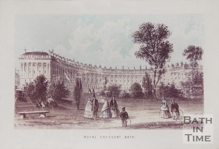 Royal Crescent, Bath 1861