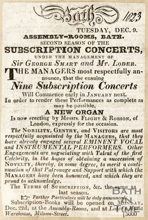 Newspaper article concerning concerts at the Assembly Rooms, 1823