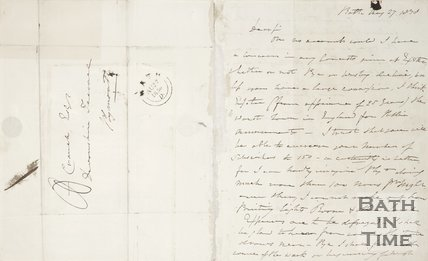 Handwritten letter to A. Crouch from J.D. Loder 1830