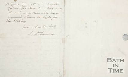 Handwritten letter to A. Crouch from J.D. Loder Verso 1830