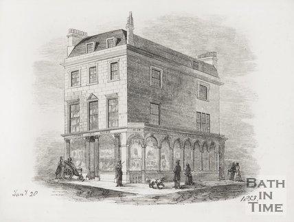 24 Milsom Street, Corner of George Street, 1853