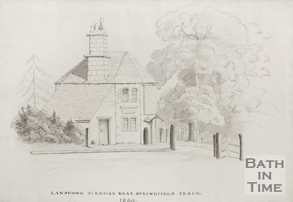 Lansdown turnpike near Springfield Place, 1830