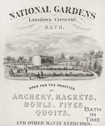 Poster for the National Gardens of Lansdown Crescent Bath, 1850
