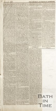 Page from the Watchman and Wesleyan Advertiser, 1852