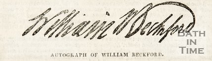 Copy of autograph of William Beckford
