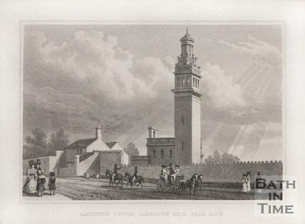 Lansdown Tower, Lansdown Hill, Near Bath 1829