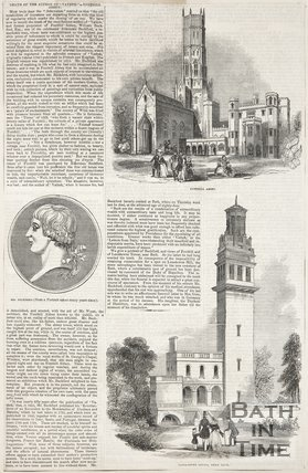 Article concerning the death of William Beckford, 1844