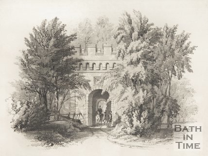 Page 1 from Illustrations of Lansdown Crescent, Bath by Willes Maddox. 1844