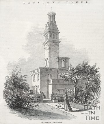The Tower (Beckford's) and Garden, 1845