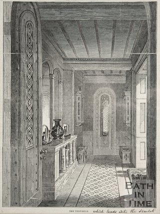 The Vestibule, Beckford's Tower, 1844