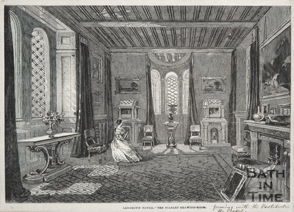 The Scarlet Drawing Room, Beckford's Tower, 1844