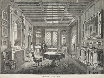 The Crimson Drawing-Room, Beckford's Tower, 1844
