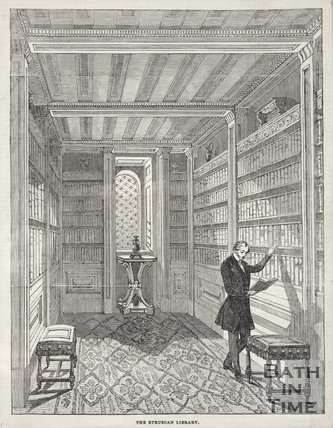 The Library, Beckford's Tower, 1844