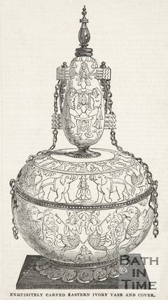 Beckford's Exquisitely Carved Eastern Ivory Vase