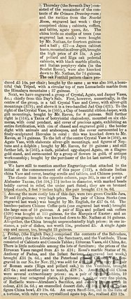 Newspaper article concerning the sale of the late Mr. Beckford's possessions