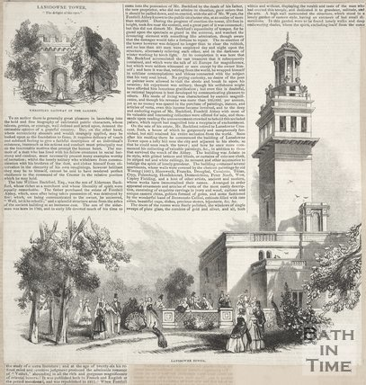 Newspaper article containing a biography of William Beckford