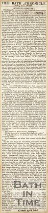 Newspaper article describing the consecration of Lansdown Cemetery, 1848