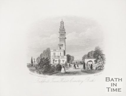 Beckford's Tower, Walcott Cemetery, Bath 1861