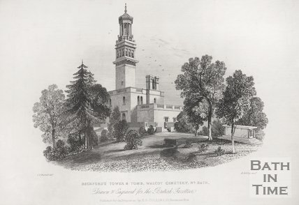 Beckford's Tower & Tomb, Walcot Cemetery, Nr. Bath c.1850