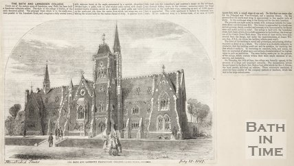 Newspaper article concerning the Lansdown Proprietary College 1857