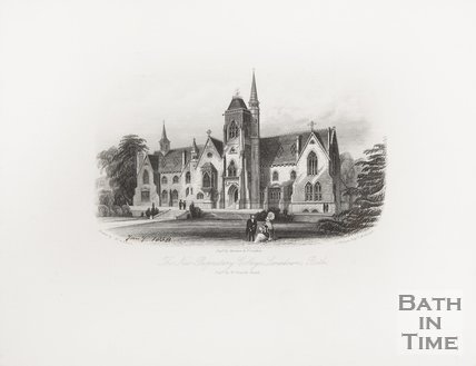 The New Proprietary College, Lansdown, 1858