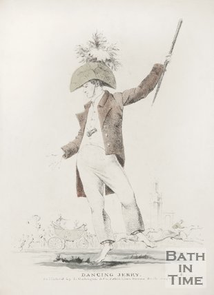 Dancing Jerry at Bath Races, 1829