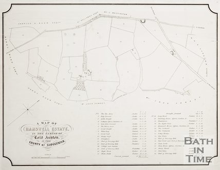 A Map of Hamswell Estate, In the Parish of Cold Ashton, in the County of Gloucester.