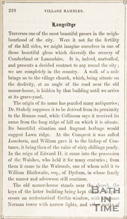 Page 228 from Rambles about Bath and its Neighbourhood, 1847