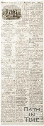 Newspaper article concerning All Saints Chapel, Weston, near Bath 1876