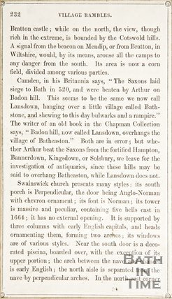 Page 232 from Rambles about Bath and its Neighbourhood, 1847