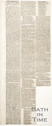 Newspaper Article concerning the Batheaston Vase.