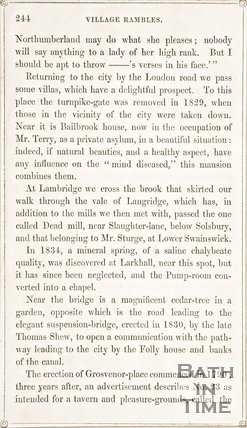 Page 244 from Rambles about Bath and its Neighbourhood, 1847