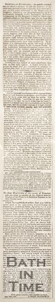 Newspaper article concerning the projected stopping up of the Batheaston Meadows footpath, 1826