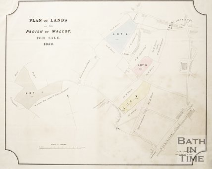 Plan of Lands in the Parish of Walcot for sale, 1850
