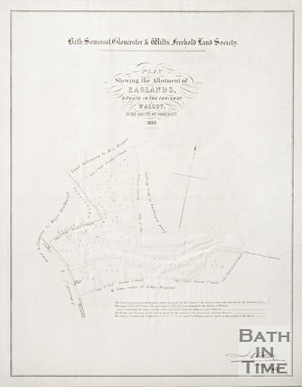 A plan showing the allotment of England's situate in the Parish of Walcot Somerset, 1850