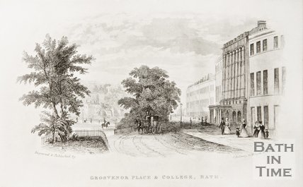 Grosvenor Place and College c.1845