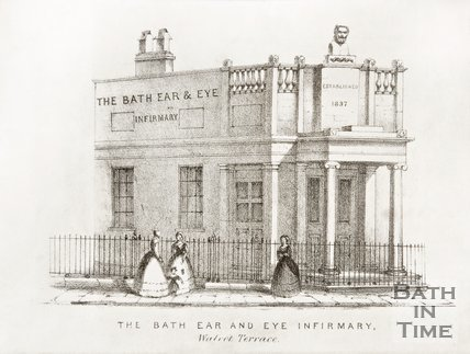 The Bath Ear and Eye Infirmary, Walcot Terrace, London Road c.1840?