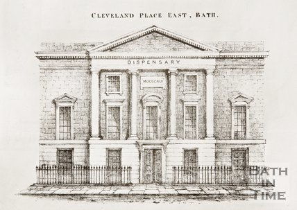 The Eastern Dispensary, Cleveland Place East, Bath c.1845