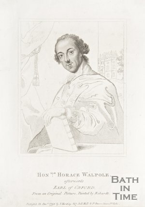 Portrait of the honourable Horace Walpole