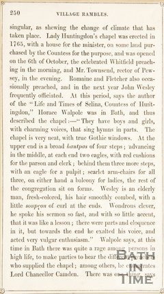 Page 250 from Rambles about Bath and its Neighbourhood, 1847