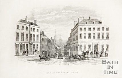 Broad street, Bath, c.1873