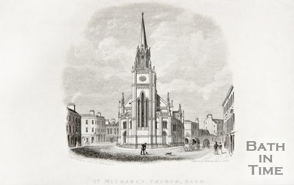 St. Michael's Church, Bath, c.1845