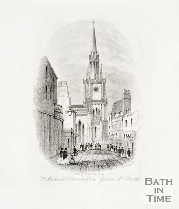 St. Michael's Church from Green Street c.1850?