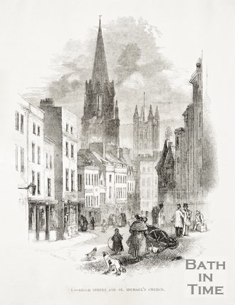 7. Broad Street and St. Michael's Church, 1849