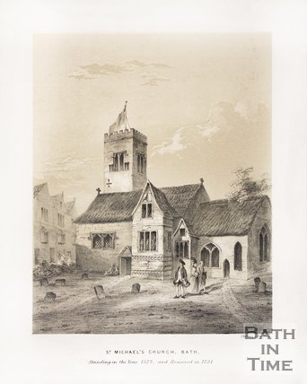 St. Michael's Church, standing in the year 1572 and removed in 1731, c.1835