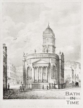 St. Michael's Old Church, Bath, c.1835