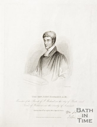 A Portrait of the Rev. John Richards A.M., Minister of the Parish of St. Michael in the City of Bath and Vicar of Wedmore in the County of Somerset, 1825