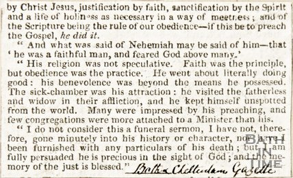 Newspaper article regarding Rev. John Richards