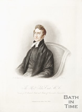 A portrait of the Rev. John East M.A. Curate of St. Michael's, Bath and Rector of Crosscombe, Somerset, 1834